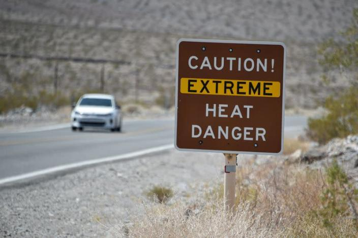 Extreme heat in Death Valley, California