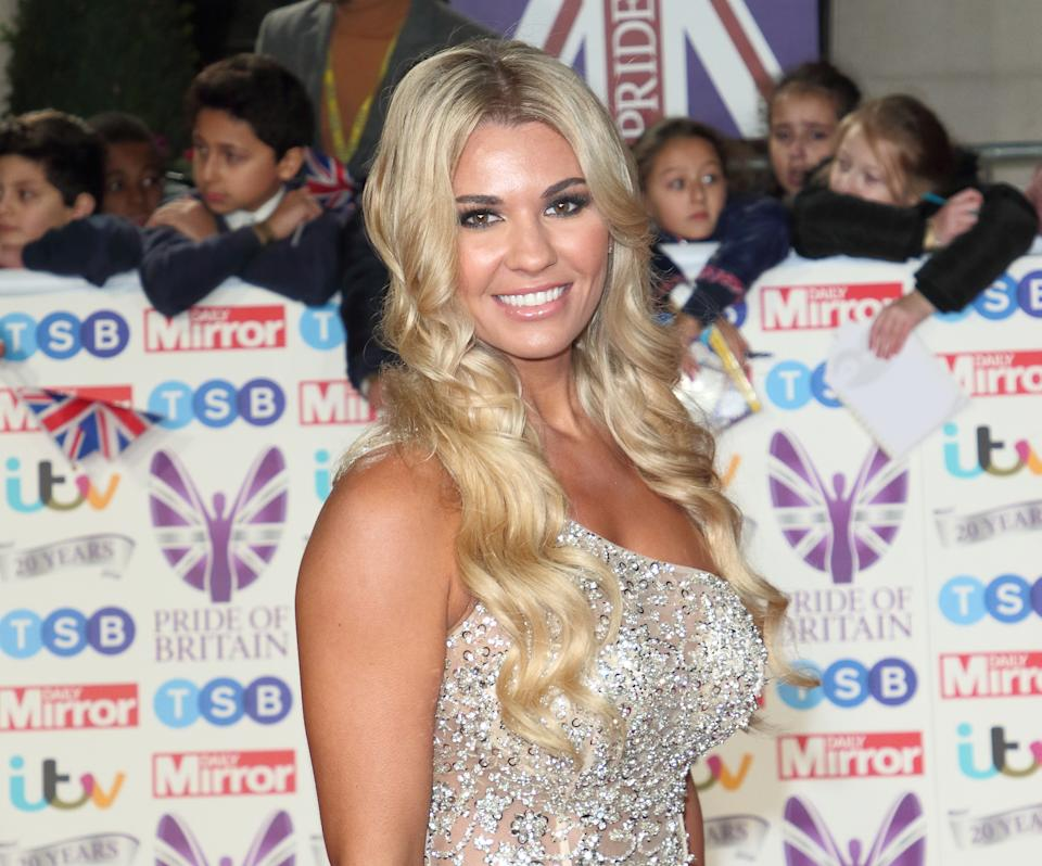 LONDON, -, UNITED KINGDOM - 2019/10/28: Christine McGuinness on the red carpet at The Daily Mirror Pride of Britain Awards, in partnership with TSB, at the Grosvenor House Hotel, Park Lane. (Photo by Keith Mayhew/SOPA Images/LightRocket via Getty Images)