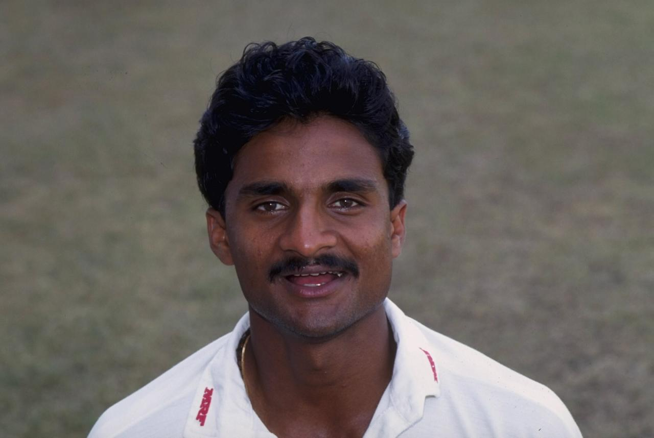 Oct 1991:  Portrait of Javagal Srinath of India.