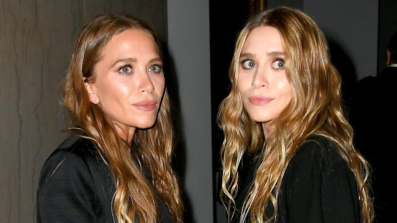 Mary-Kate and Ashley Olsen Lean on Each Other at Airport in Cutest Twin Moment Ever