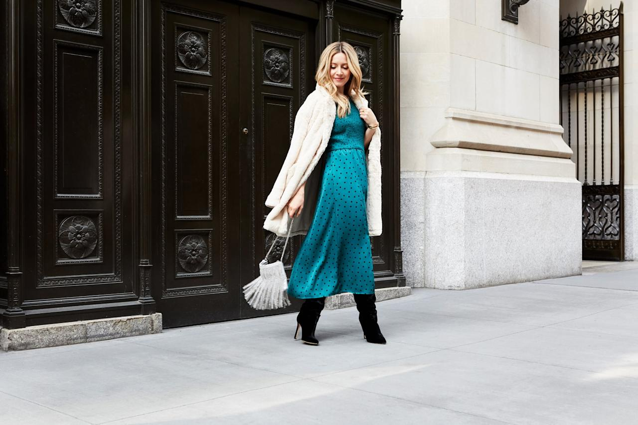 <p>When it comes to shoes, a pair of luxe-looking tall boots is a fresh choice in place of heels (not to mention a warmer option in cold weather) whether you go for velvet, hair-calf, snake print, or suede.</p>
