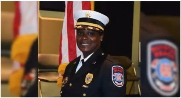 Latosha Clemons, a former Boynton Beach deputy fire-rescue chief filed a lawsuit against the city after she was depicted as white in a mural. (Photo: WPTV News/YouTube screenshot)