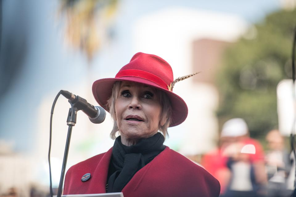 Jane Fonda attends Fire Drill Friday on February 07, 2020 in Los Angeles, California. (Photo by Morgan Lieberman/WireImage)
