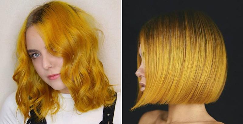 The Mustard Yellow Hair Color Trend Is Basically The