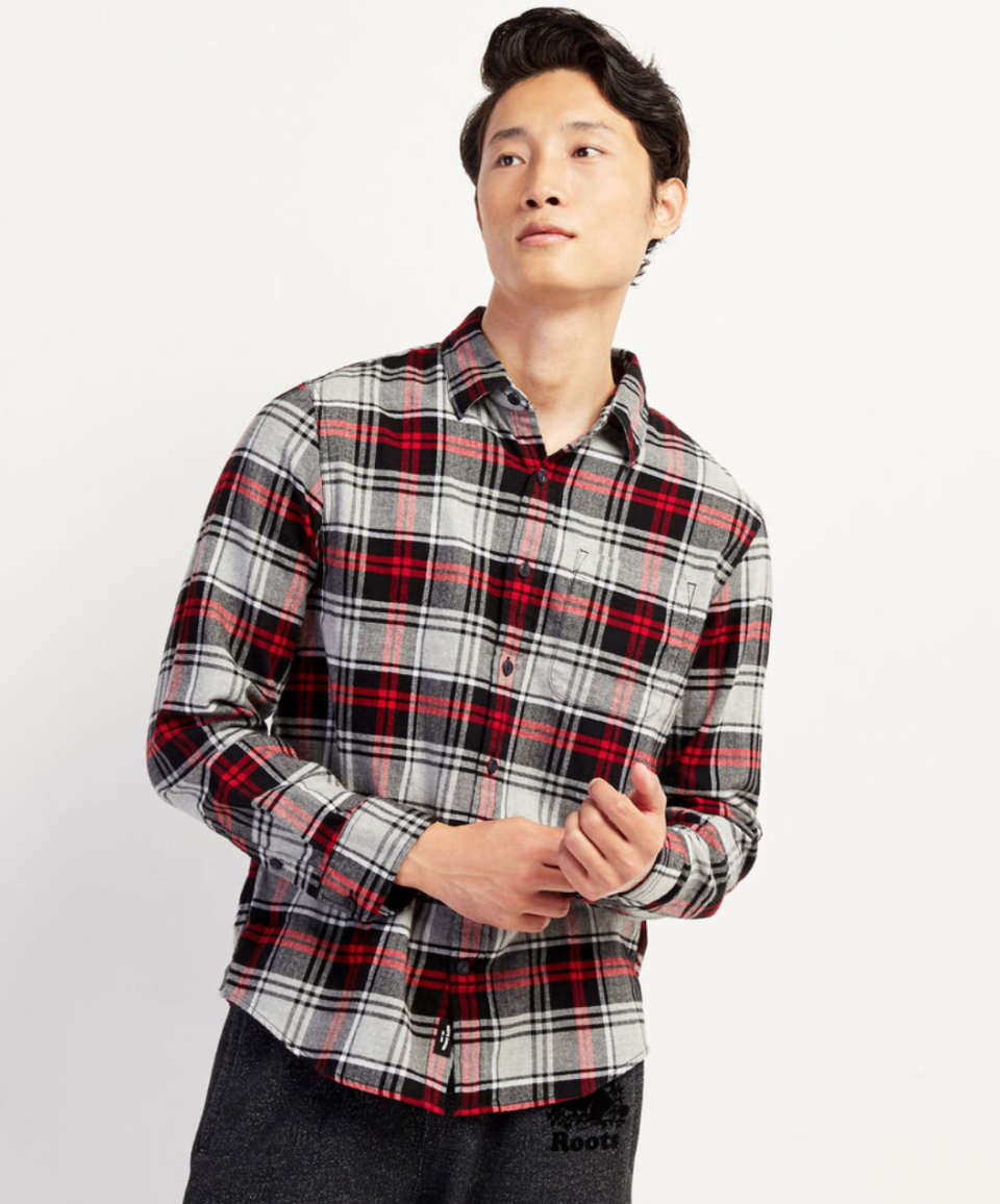 Bremner Flannel Shirt. Image via Roots.