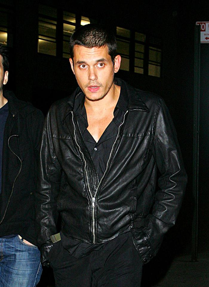 "He may no longer have Jennifer Aniston, but John Mayer still has his looks ... and he's looking delicious these days! Ahmad Elatab/<a href=""http://www.splashnewsonline.com"" target=""new"">Splash News</a> - August 21, 2008"