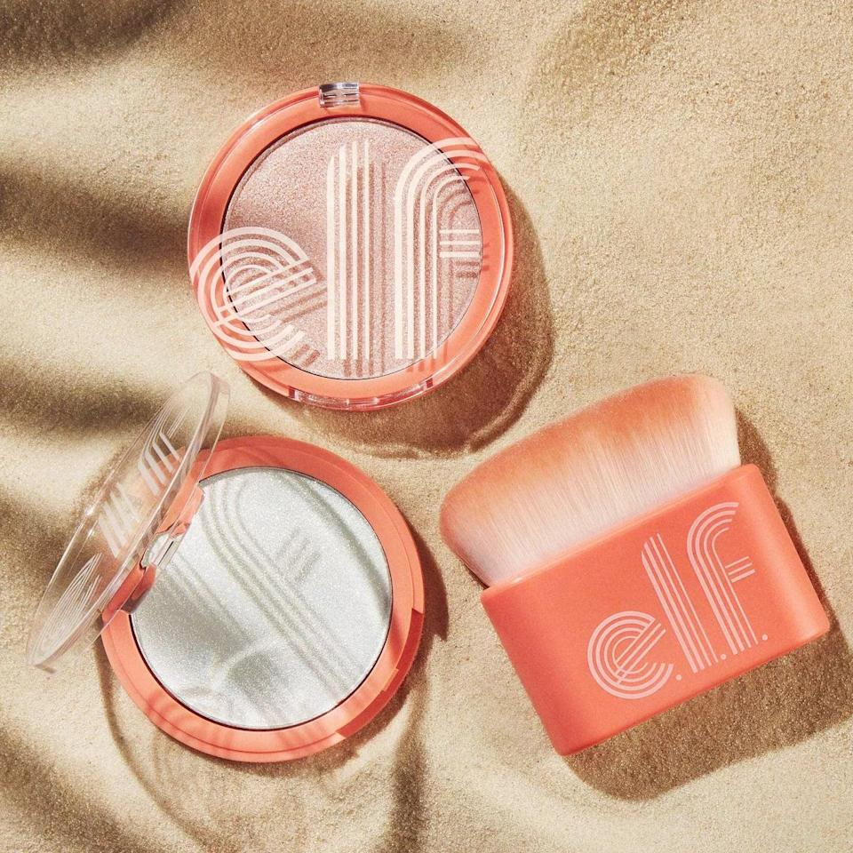 <p>Highlight from your cheekbones to your collar bones with the <span>e.l.f. Retro Paradise Multi-Dimensional Face &amp; Body Shimmer</span> ($10). </p>