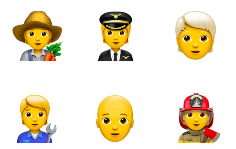 New gender neutral Emojis are being introduced [Photo: Emojipedia]