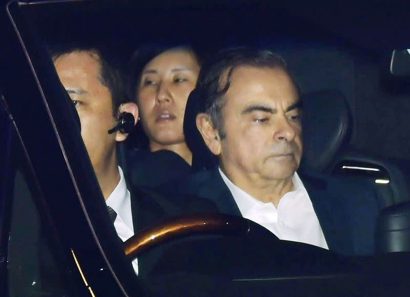 Former Nissan Motor Chairman Carlos Ghosn leaves the Tokyo Detention House in Tokyo