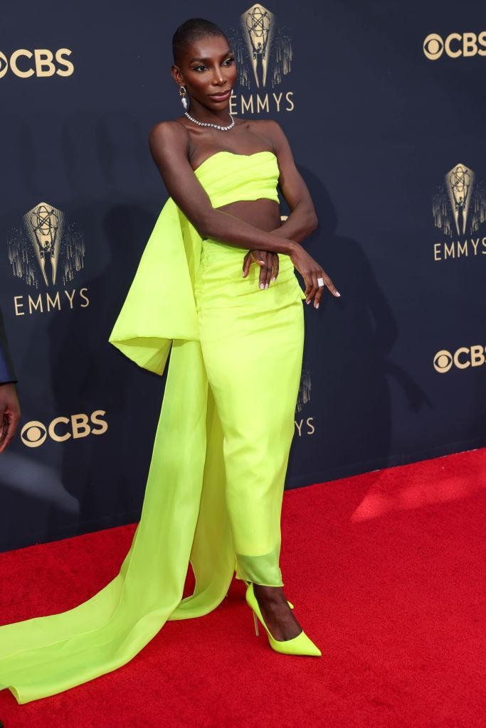 Michaela Coel attends the 73rd Primetime Emmy Awards  (Getty Awards)