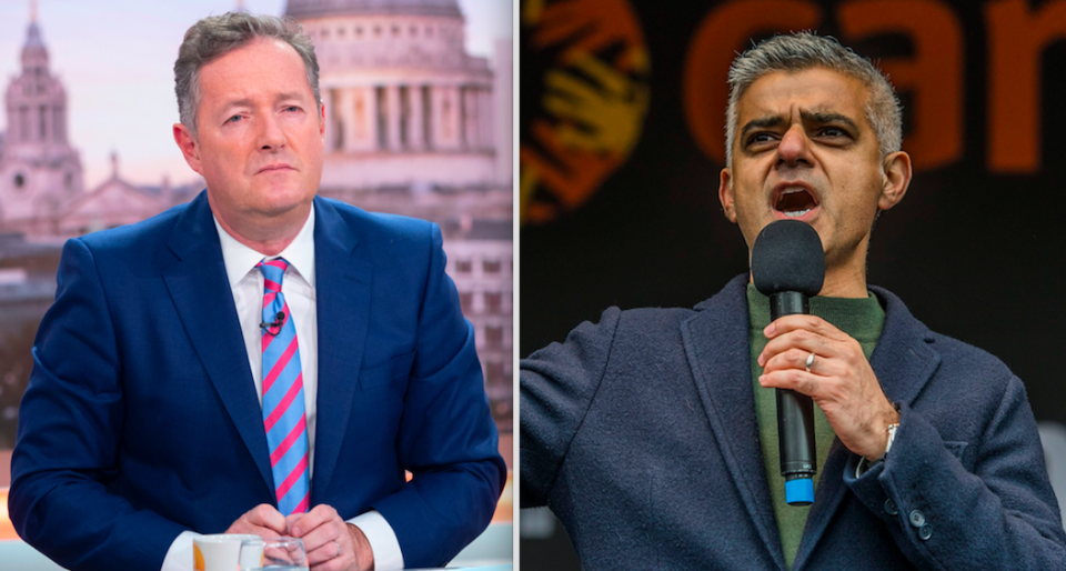 <em>Piers Morgan criticised Sadiq Khan after he failed to appear on Good Morning Britain (Rex)</em>