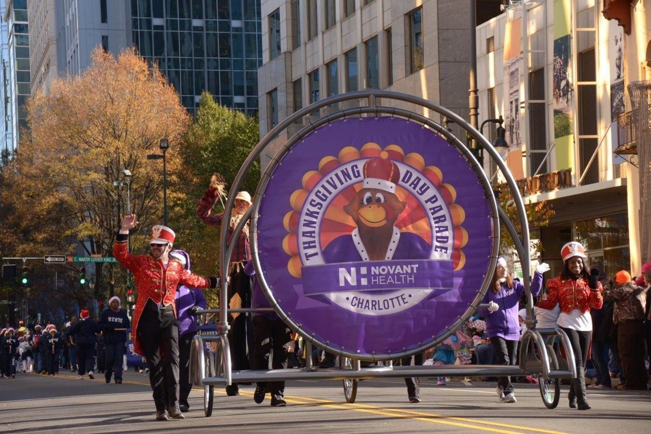"""<p><strong>Novant Health Thanksgiving Day Parade </strong><br /> A 69-year-old North Carolina event, Charlotte's parade is expected to draw a crowd of 100,000. It begins at 9:30 a.m. EST, at Tryon and Stonewall Streets. Search """"Novant Thanksgiving Day Parade"""" in the App Store or on Google Play to download the app.</p> <p>Find a hotel package with VIP parade seating and Thanksgiving dinner for two at <em><a href=""""http://dunhillhotel.com"""" target=""""_blank"""">dunhillhotel.com</a></em>.</p>"""