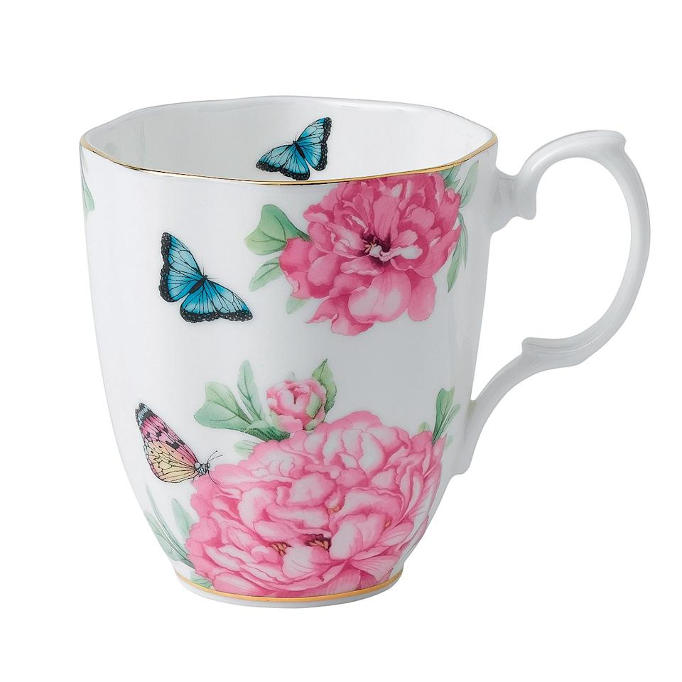 """I actually take this mug when I travel, so there is always a little bit of home wherever I am,"" says Kerr, who codesigned the item.  <strong>Buy It!</strong> Royal Albert Friendship Mug, $31.99; <a rel=""nofollow"" href=""https://www.royalalbert.com/collections/miranda-kerr"">royalalbert.com</a>"