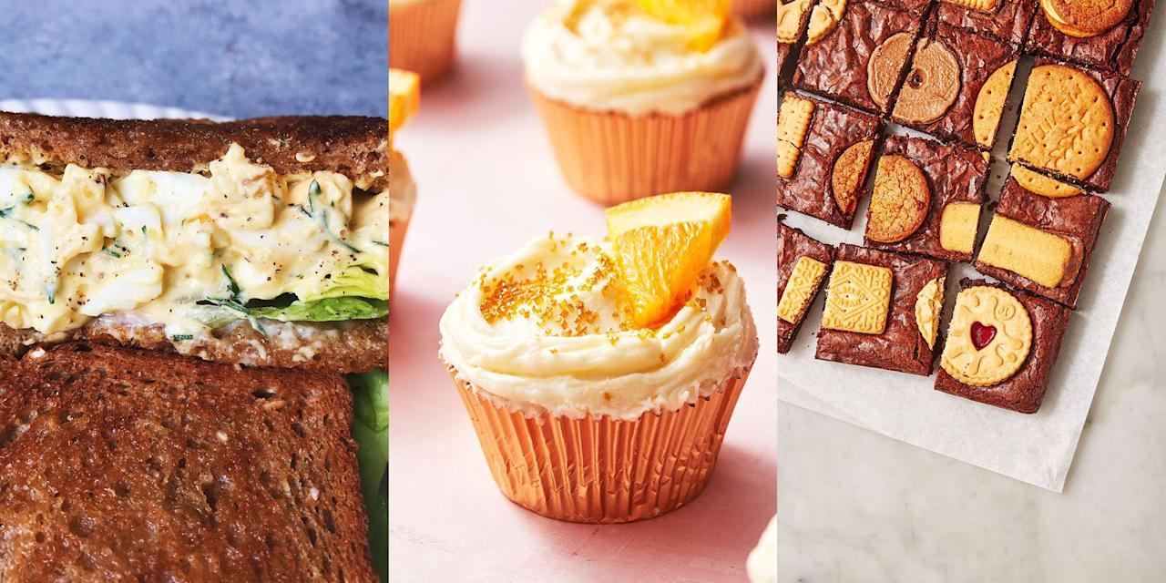 "<p><a href=""https://www.delish.com/uk/food-news/g29000632/best-afternoon-teas/"" target=""_blank"">Afternoon tea</a> is one of the greatest British past times, am I right? Mini cakes, fresh scones, cute, perfectly formed sandwiches, all washed down with a cuppa. Simply perfect. So, here's a range of exciting recipes for you to experiment with, get a hold of these and you'll become a seasoned afternoon tea expert in no time. Expect classic <a href=""https://www.delish.com/uk/cooking/recipes/a28784350/best-egg-salad-sandwich-recipe/"" target=""_blank"">egg salad sandwiches</a>, <a href=""http://www.delish.com/uk/cooking/recipes/a28867437/lemon-drizzle-cake/"" target=""_blank"">lemon drizzle cake</a> and even <a href=""https://www.delish.com/uk/cooking/recipes/a30220118/apple-crumble-cupcakes/"" target=""_blank"">apple crumble cupcakes</a>. </p>"