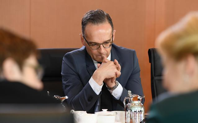 German Foreign Minister Heiko Maas at German cabinet meeting in the Chancellery. Berlin, Germany, October, 23, 2019. Credit: Reuters/Annegret Hilse
