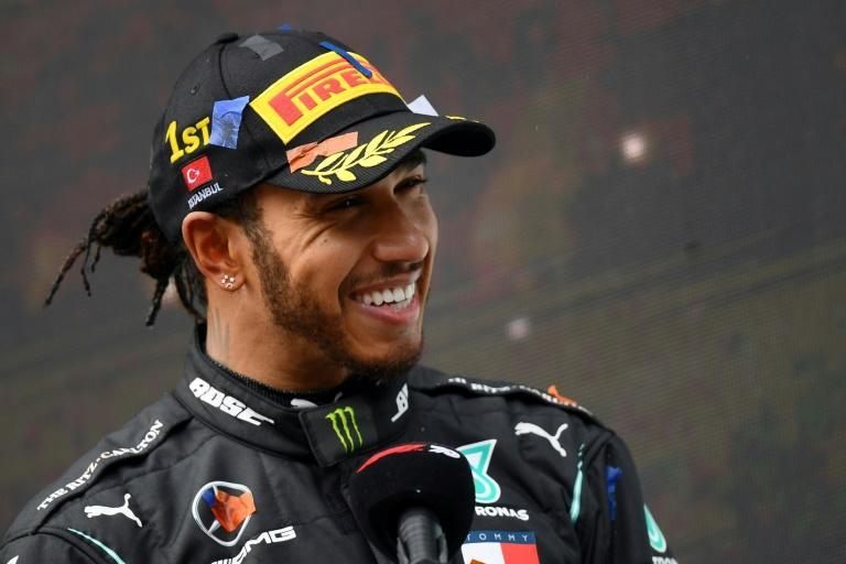 Lewis Hamilton, pictured in November 2020, is aiming to win an eighth world title to overtake Michael Schumacher