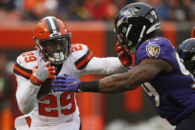Cleveland Browns running back Duke Johnson's salary suggests he's being under-appreciated in fantasy drafts. (AP Photo/Ron Schwane)