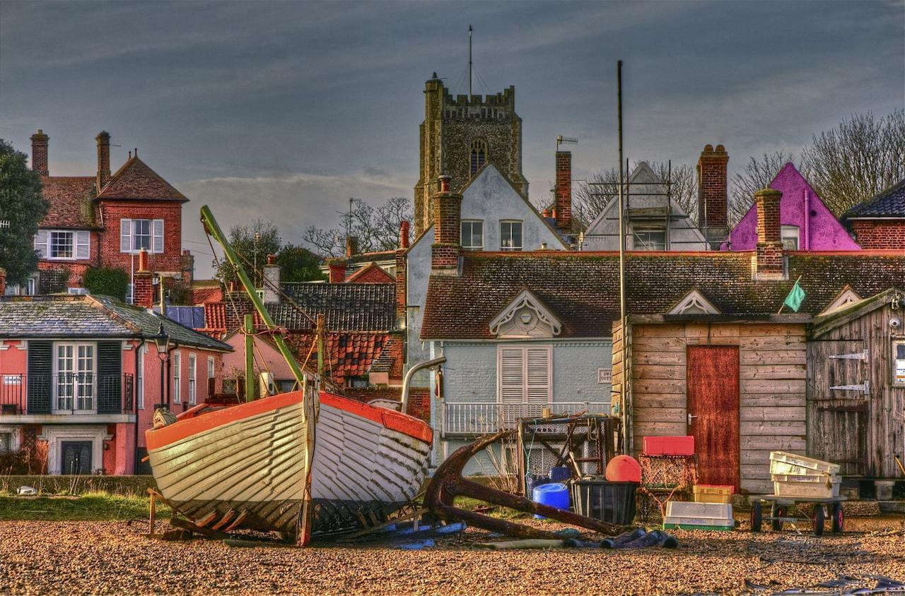 """<p>The Suffolk seaside town has plenty to offer those needing some rest and relaxation away from London. While most people will tell you to visit The Red House (the former home of composer Benjamin Britten) in Aldeburgh, we advise treading a less frequented path. </p><p>Pay a visit to the Aldeburgh Cinema, an old-fashioned picture house that's been screening films since 1919, the four-metre high steel scallop on the beach and the boating lake, Thorpeness Meare.</p><p> The best fish and chips will be found at Aldeburgh fish and chips (we suggest the haddock) and ice cream at Harris & James Store. What are you waiting for?</p><p><strong>Distance from London</strong>: 109.3 miles</p><p><strong>How to get there</strong>: London Liverpool Street to Saxmundham to Alderburgh via <a href=""""https://www.thetrainline.com/book/results?origin=a994b357084b0548e2b14a0c76ca0ac0&destination=754d400bc1a3566213e1e33b504d59b3&outwardDate=2020-07-16T14%3A00%3A00&outwardDateType=departAfter&journeySearchType=single&passengers%5B%5D=1990-07-16&selectedOutward=ZCRAtsI6VDA%3D%3A7od1XBjoDrY%3D"""" target=""""_blank"""">train</a> (2hr 45mins).</p>"""