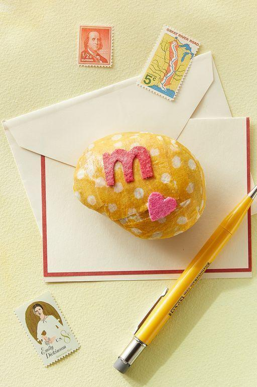 """<p>Take the idea of a pet rock to the next level with this adorable decorated rock. Paint it with a special message to mom to celebrate the holiday. </p><p><strong><em>Get the tutorial at <a href=""""https://www.countryliving.com/diy-crafts/g4233/mothers-day-crafts-kids/"""" rel=""""nofollow noopener"""" target=""""_blank"""" data-ylk=""""slk:Country Living"""" class=""""link rapid-noclick-resp"""">Country Living</a>. </em></strong></p>"""