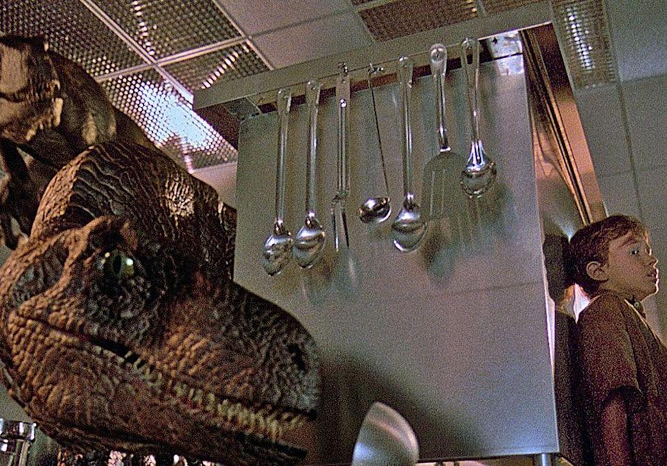 <p> WARNING: You will never watch <em>Jurassic Park</em> the same after reading this. The sound effect used when velociraptors communicate with each other throughout the film was actually tortoises mating. </p>