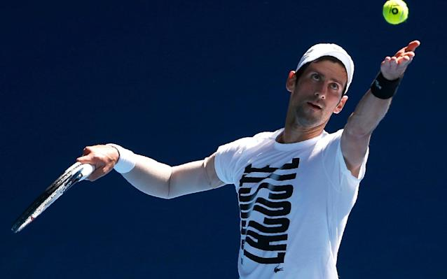 Novak Djokovic has not played a competitive match since the Australian Open in January - REUTERS
