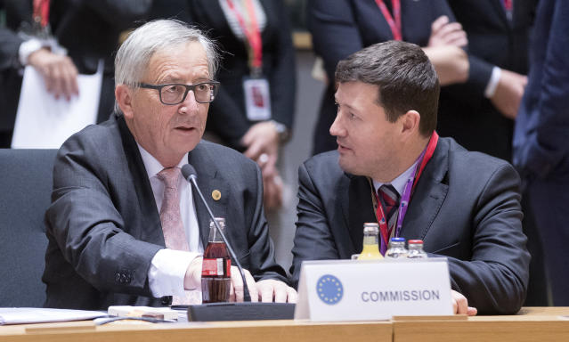 European Commission president Jean-Claude Juncker with his political protégé Martin Selmayr. Photo:Getty