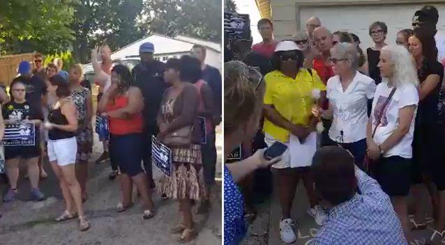 The community rallied together for a vigil at the scene of the crime, demanding answers at how the much loved Australian woman was killed. Source: Facebook