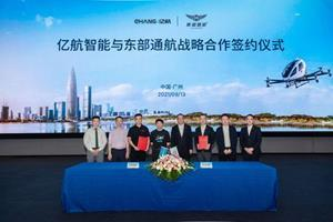Picture: EHang and HELI-EASTERN partnership signing ceremony