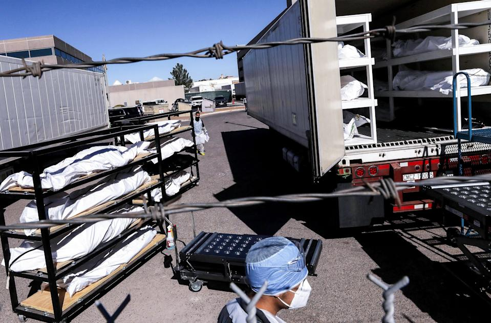 Texas National Guard troops were deployed to El Paso to help deal with morgues overflowing with Covid victims (Getty Images)