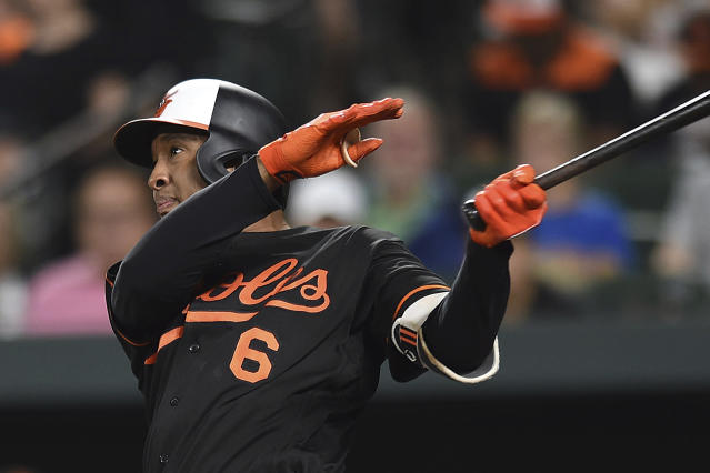 Jonathan Schoop is on his way to Milwaukee. (AP Photo/Gail Burton)