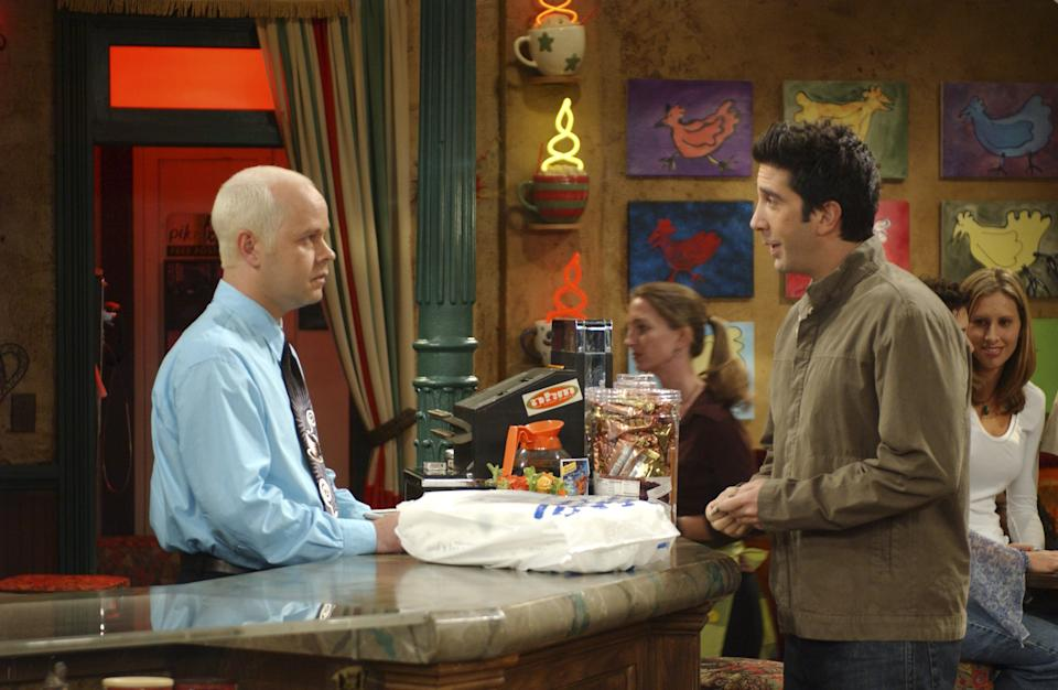James Michael Tyler and David Schwimmer on Friends