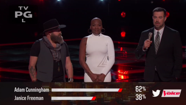 Janice Freeman shockingly goes home on 'The Voice.' (Photo: NBC)