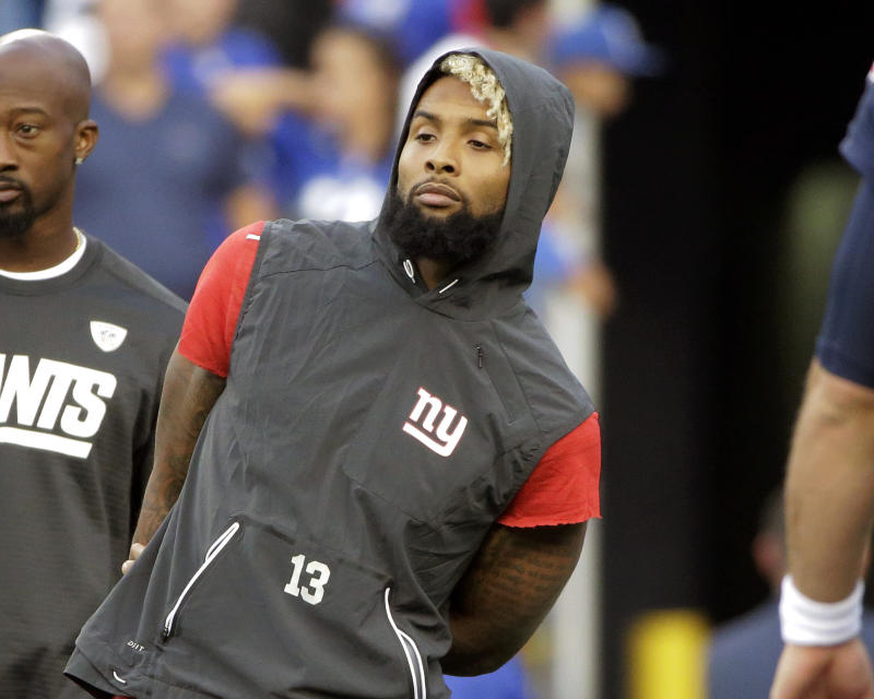 Odell Beckham did not practice with the Giants on Wednesday. (AP)