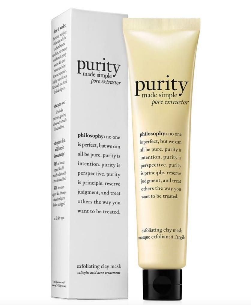 <p>Scented candles, calming music, and a face mask . . . sounds like a great night in, yes? This beautifully scented, purifying <span>Philosophy Purity Pore Extractor Clay Mask</span> ($35) will give your loved one a serious glow (PSA: you'll want one for yourself, too).</p>