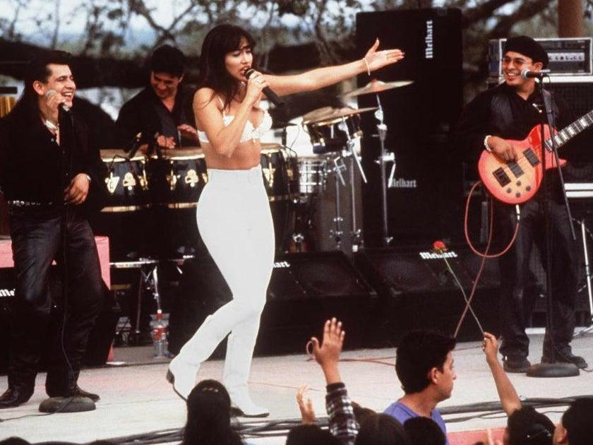 <p>Jennifer Lopez playing Selena Quintanilla in the 1997 biopic</p> (Getty Images)