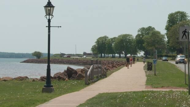 Many people were out enjoying the sun and warmth, including at Victoria Park in Charlottetown.