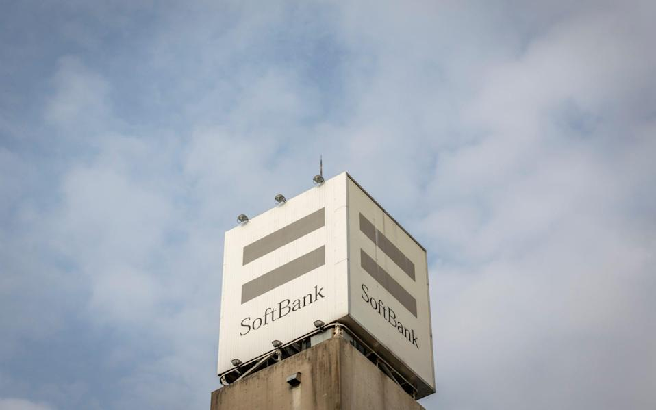 A SoftBank sign is displayed on top of a SoftBank mobile phone store on May 11, 2021 in Tokyo, Japan - Yuichi Yamazaki/Getty Images AsiaPac