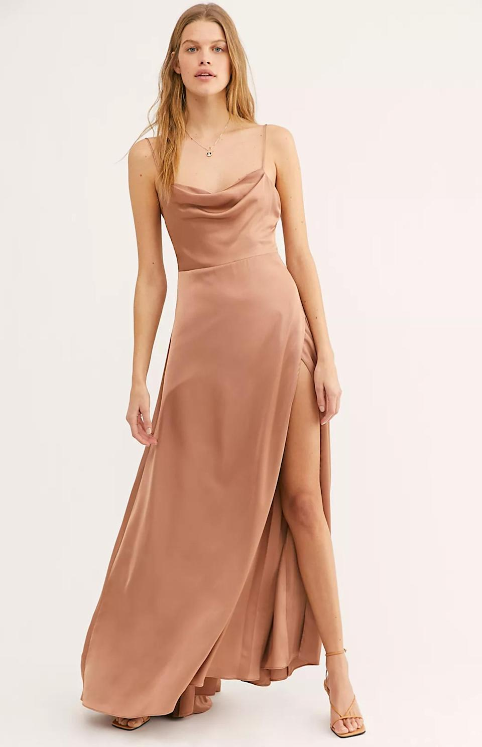 """You can definitely rewear this Free People gem to another summer wedding or black-tie event. $279, Free People. <a href=""""https://www.freepeople.com/shop/the-rosabel-maxi-dress"""" rel=""""nofollow noopener"""" target=""""_blank"""" data-ylk=""""slk:Get it now!"""" class=""""link rapid-noclick-resp"""">Get it now!</a>"""