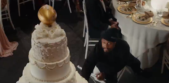 All Marshawn Lynch wanted was some cake in this classic Super Bowl commercial. (Screengrab)