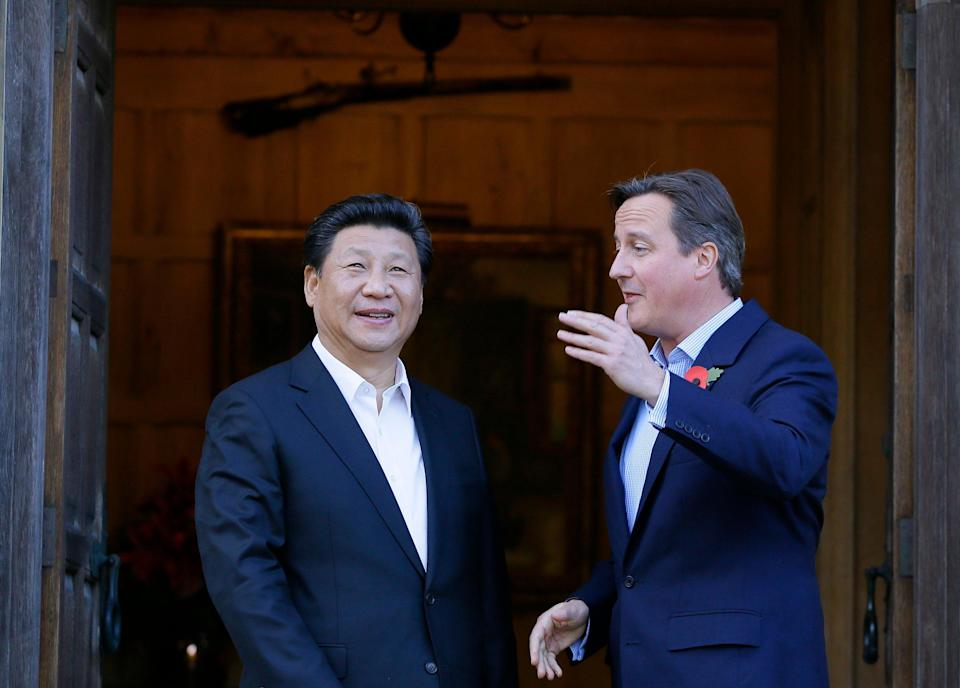 Then prime minister David Cameron welcomes Chinese President Xi Jinping to his Buckinghamshire country retreat Chequers (Kirsty Wigglesworth/PA) (PA Archive)