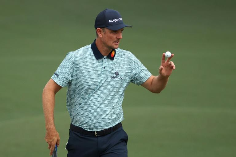England's Justin Rose fired a level par 72 Friday at Augusta National to stay atop the leaderboard of the 85th Masters