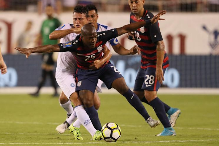 El Salvador made sure things were tough for Darlington Nagbe and the USMNT. (Getty)