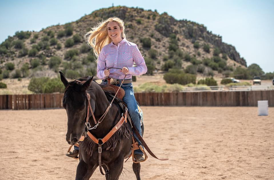 "<h3><strong><em>Walk. Ride. Rodeo. </em></strong><br>March 8</h3><br><br>This movie tells the<a href=""https://www.refinery29.com/en-us/2019/03/226288/walk-ride-rodeo-true-story-amberley-snyder-2019-netflix-movie"" rel=""nofollow noopener"" target=""_blank"" data-ylk=""slk:incredible true story of Amberley Snyder,"" class=""link rapid-noclick-resp""> incredible true story of Amberley Snyder,</a> an award-winning barrel racer who lost function in her legs after a terrible accident — and then got back on the horse to race again."