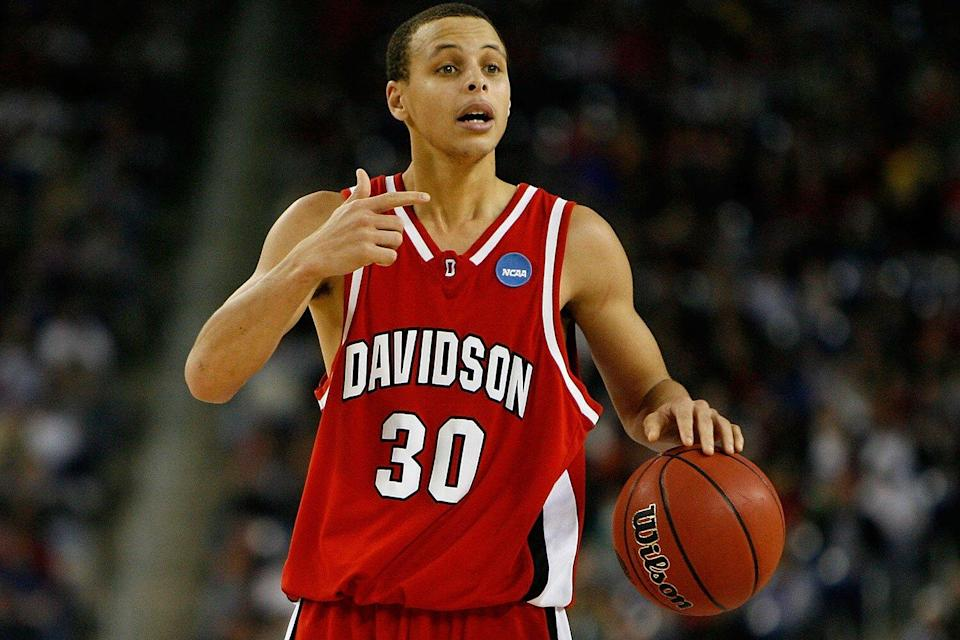 Steph Curry at Davidson college
