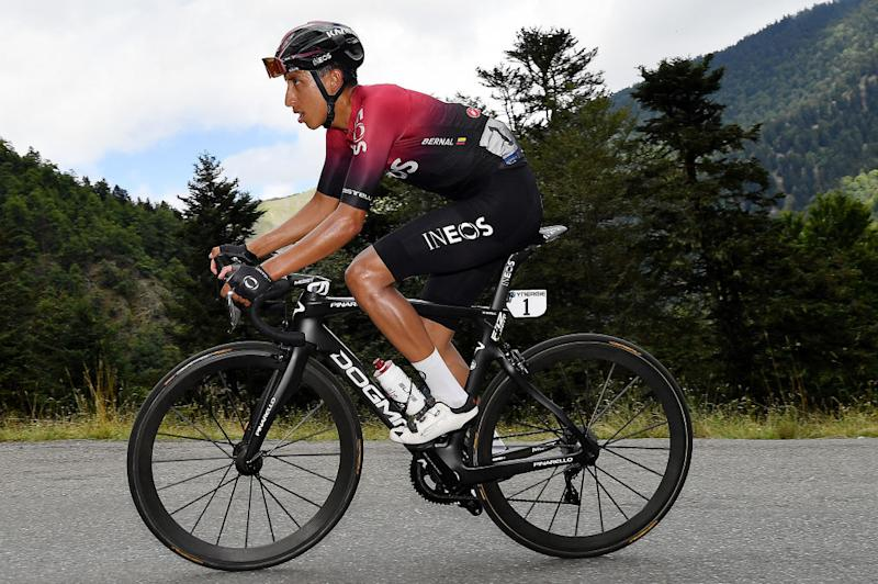 SARRANCOLIN FRANCE AUGUST 03 Egan Bernal of Colombia and Team Ineos during the 44th La Route dOccitanie La Depeche du Midi 2020 Stage 3 a 1635km stage from Saint Gaudens to Col de Beyrde 1417m RouteOccitanie RDO2020 on August 03 2020 in Sarrancolin France Photo by Justin SetterfieldGetty Images