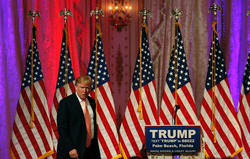 Republican presidential candidate Donald Trump has boosted the number of his followers to nearly seven million, and has managed to beat rivals with a campaign largely based around Twitter (AFP Photo/Rhona Wise                     )