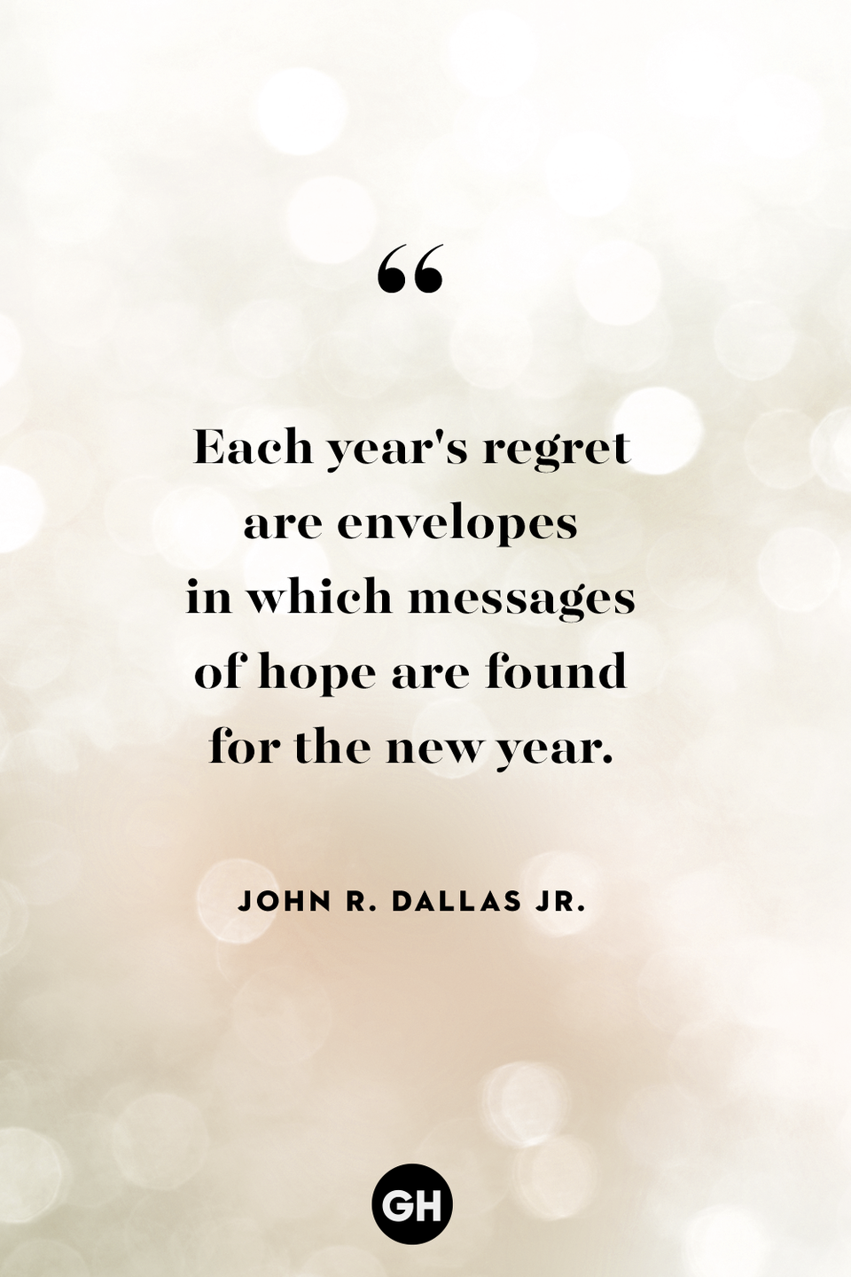 <p>Each year's regret are envelopes in which messages of hope are found for the new year. </p>