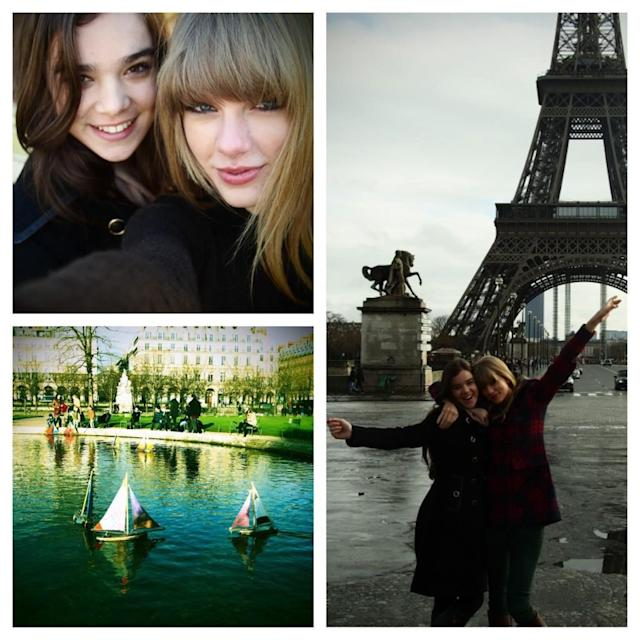 "<p>Paris is known for being a romantic city, but it's just as fun with a friend, as Taylor Swift knows. The songstress and Hailee Steinfeld made a day of it in 2013, ""meandering around"" and ""laughing hysterically."" (Photo: <a href=""https://twitter.com/taylorswift13/status/295578061825515520"" rel=""nofollow noopener"" target=""_blank"" data-ylk=""slk:Taylor Swift via Twitter"" class=""link rapid-noclick-resp"">Taylor Swift via Twitter</a>) </p>"