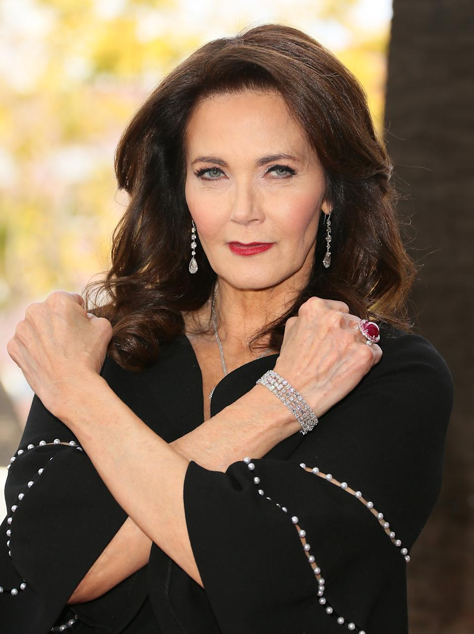 Lynda Carter en el 2018. (Photo by JB Lacroix/WireImage)