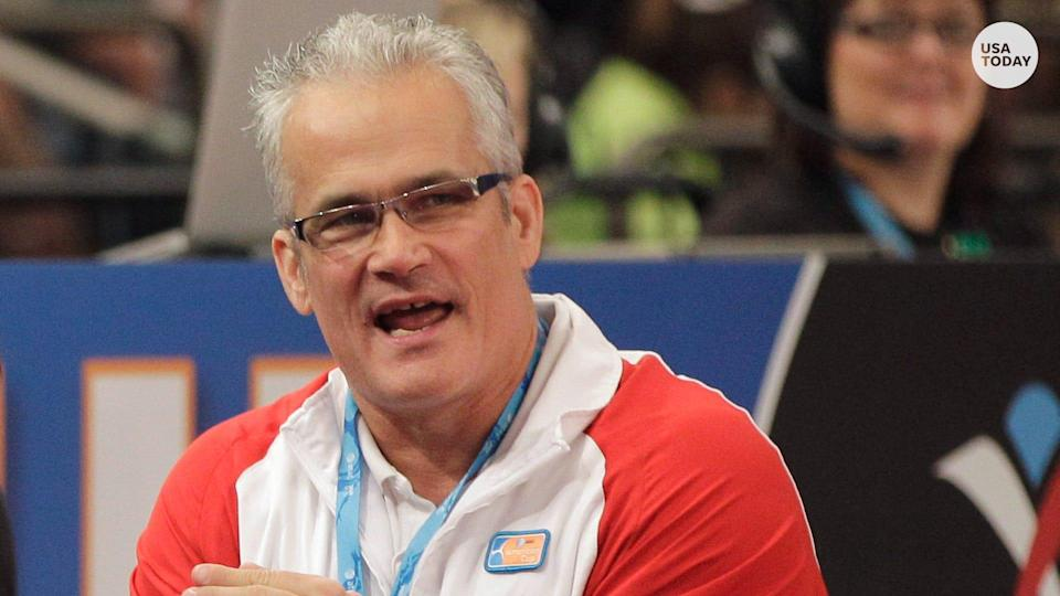 Former USA Gymnastics coach John Geddert's body was discovered on Feb. 25, 2021, at a rest area on Interstate 96 in Clinton County, Michigan, just hours after he was charged with 24 counts including human trafficking, sexual assault, racketeering and lying to police.